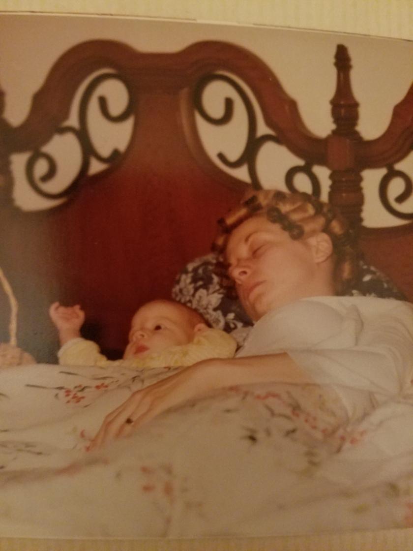 sleeping with mama